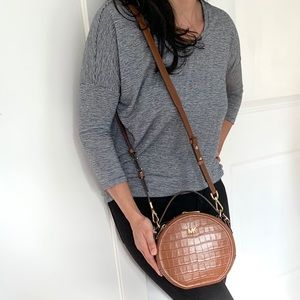 NWT authentic MK croc leather canteen bag